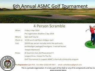 6th  Annual ASMC Golf Tournament