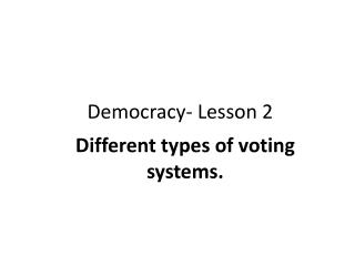 Democracy- Lesson 2