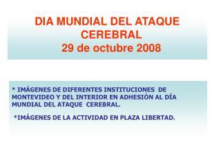 IM GENES DE DIFERENTES INSTITUCIONES  DE MONTEVIDEO Y DEL INTERIOR EN ADHESI N AL D A MUNDIAL DEL ATAQUE  CEREBRAL.  IM