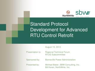 Standard Protocol Development for Advanced  RTU Control Retrofit