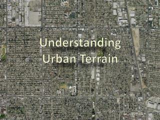 Understanding Urban Terrain