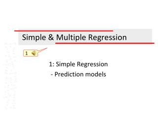 Simple & Multiple Regression