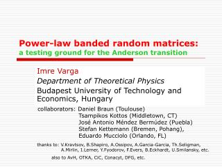 Power-law banded random matrices: a testing ground for the Anderson transition
