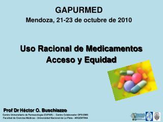GAPURMED Mendoza, 21-23 de octubre de 2010