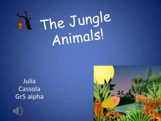 The Jungle Animals!