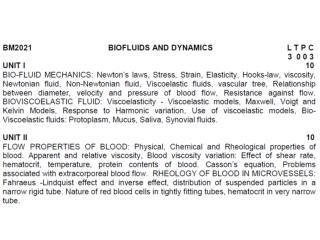 Biofluids & Dynamics