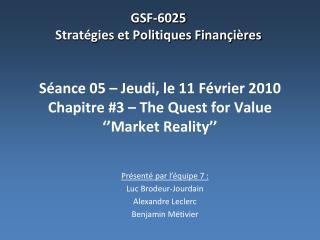 GSF-6025 Stratégies et Politiques Finançières