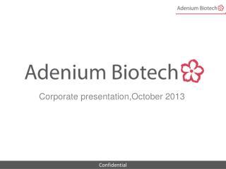 Corporate presentation,October 2013