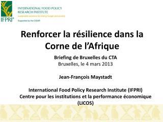 Renforcer la résilience dans la Corne de l'Afrique