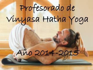 Profesorado de  Vinyasa Hatha  Yoga  Año  2014-2015