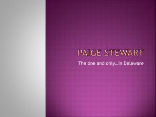 Paige Stewart