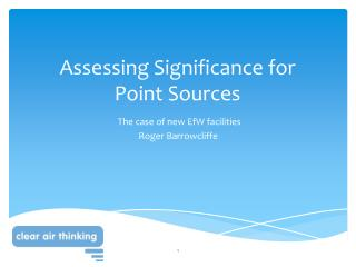 Assessing Significance for Point Sources