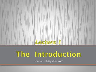 The   Introduction