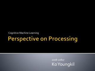 Perspective on Processing