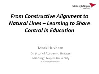 From Constructive Alignment to Natural Lines – Learning to Share Control in Education