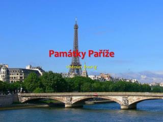 Památky Paříže