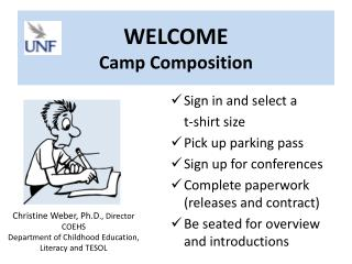 WELCOME Camp Composition