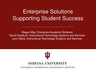 Enterprise  Solutions  Supporting Student Success