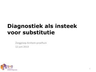 Diagnostiek als insteek voor substitutie