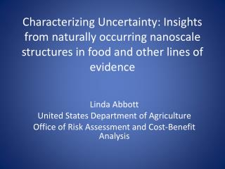 Linda Abbott United States Department of Agriculture