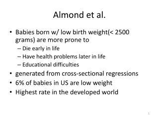 Almond et al.