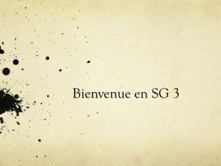 Bienvenue en SG 3