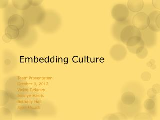 Embedding Culture