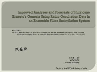 陳登舜 2012.11.30 ATM NCU Group Meeting