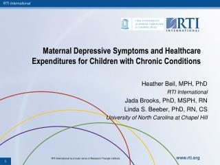 Maternal Depressive Symptoms and Healthcare Expenditures for Children with Chronic Conditions