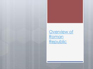 Overview of Roman Republic
