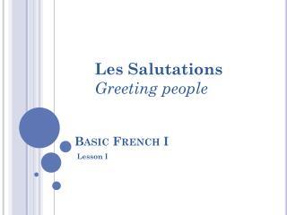 Basic French I