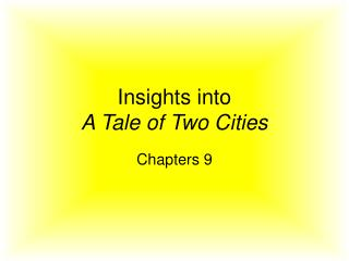 Insights into  A Tale of Two Cities
