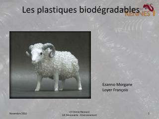 Les plastiques biodégradables