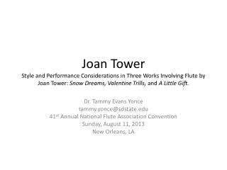 Joan Tower