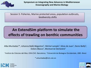 An  ExtendSim platform to simulate the effects of trawling on benthic  communities
