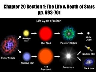 Chapter 20 Section 1: The Life & Death of Stars  pp. 693-701