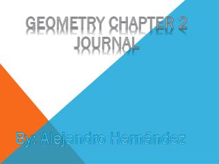 Geometry chapter 2 journal