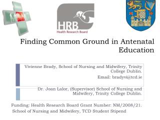 Finding Common Ground in Antenatal Education