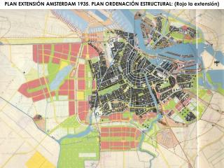 PLAN EXTENSI N AMSTERDAM 1935. PLAN ORDENACI N ESTRUCTURAL: Rojo la extensi n
