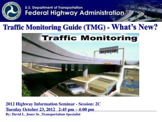 Traffic Monitoring Guide (TMG) -  What's New?