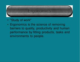 """Study of work"""