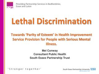 Mel Conway Consultant  Public  Health South Essex Partnership Trust