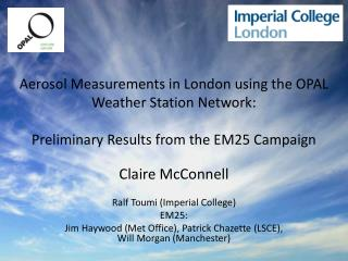 Claire McConnell Ralf  Toumi (Imperial College) EM25: