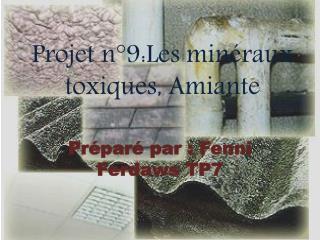 Projet n°9:Les minéraux toxiques, Amiante