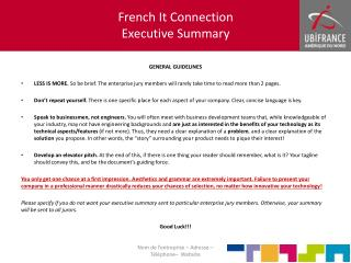 French It  Connection Executive S ummary