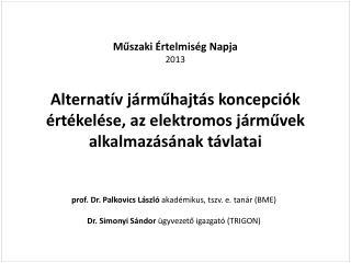 prof. Dr. Palkovics László  akadémikus,  tszv . e. tanár  (BME)
