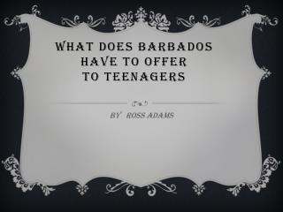 WHAT does Barbados have to offer to  teenagers