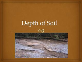 Depth of Soil
