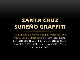 Santa Cruz  Sure�o Graffiti