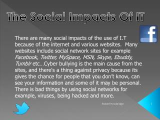 The Social Impacts Of IT